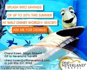 Summer 2013 Walt Disney World Savings
